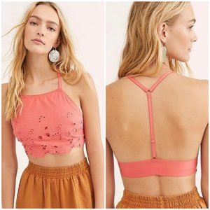 Free People Intimately Kiss Kiss Floral Crop Top